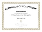Certificate Philosophy of Animal naturopathy
